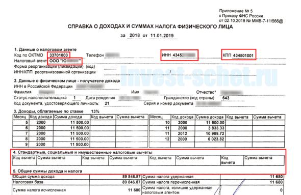 стандартные налоговые вычеты 3-НДФЛ